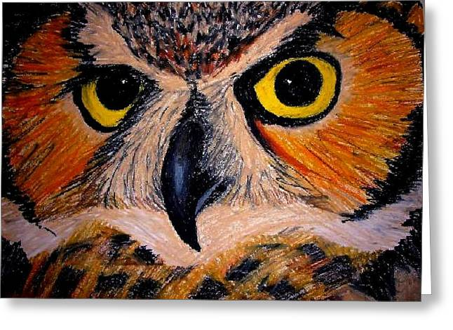 Mouse Pastels Greeting Cards - Owl Greeting Card by Ulrike Proctor