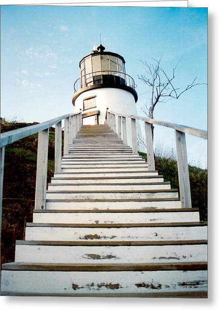 New England Lighthouse Greeting Cards - Owls Head Light Greeting Card by Greg Fortier