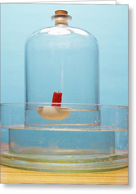Water Jars Greeting Cards - Oxygen Concentration Experiment Greeting Card by Andrew Lambert Photography