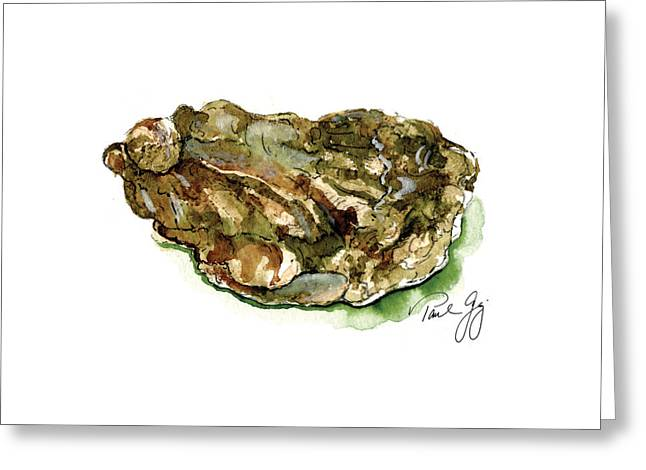 Mississippi Gulf Coast Greeting Cards - Oyster Greeting Card by Paul Gaj