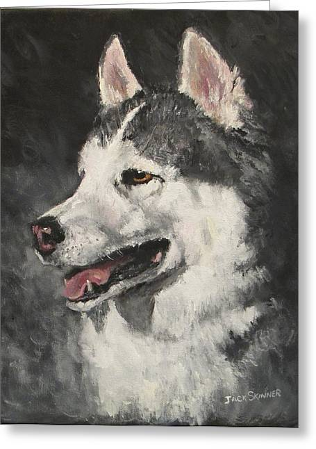 Jack Skinner Paintings Greeting Cards - Ozzie Greeting Card by Jack Skinner