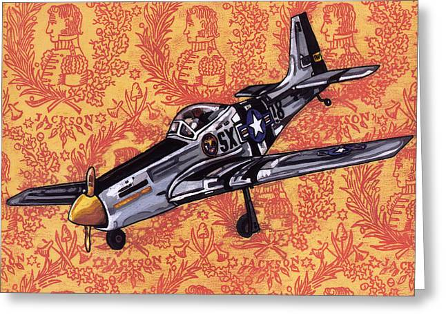 Airplanes Greeting Cards - P-51 Greeting Card by Karl Frey