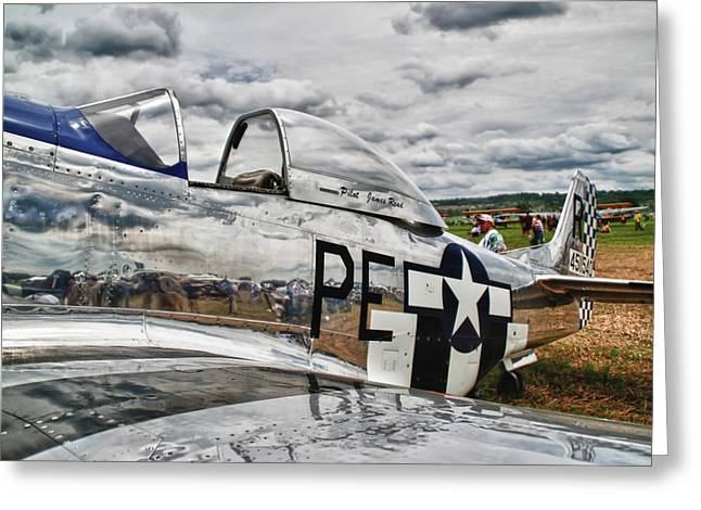P-51 Mustang Photographs Greeting Cards - P-51 Mustang 3832 Greeting Card by Guy Whiteley