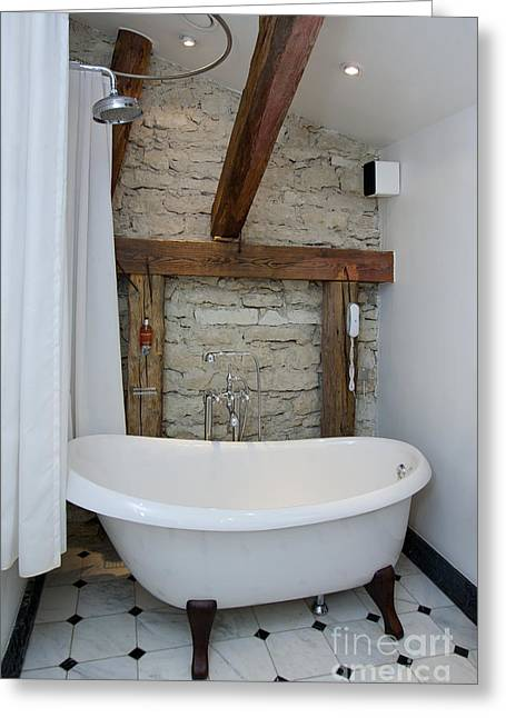 Shower Head Greeting Cards - Pädaste Manor Bathtub Greeting Card by Jaak Nilson