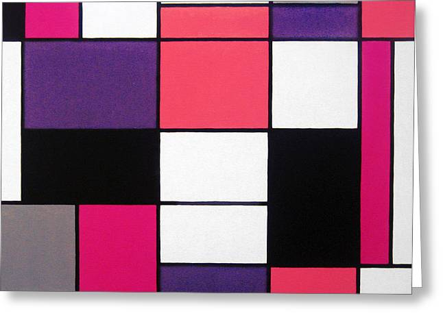 Recently Sold -  - Surreal Geometric Greeting Cards - P Cubed Greeting Card by Oliver Johnston