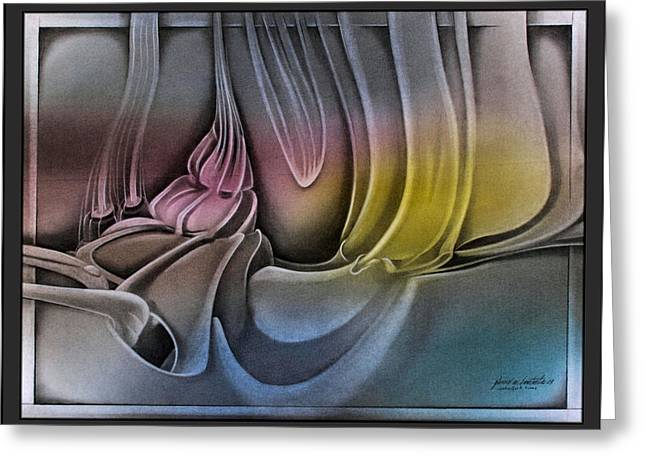 Sea Shell Art Pastels Greeting Cards - p23 ShellscapeC 2009  Greeting Card by Glenn Bautista