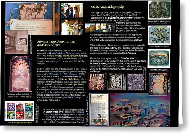 p46 Glenn Mastering Lithography Greeting Card by Glenn Bautista