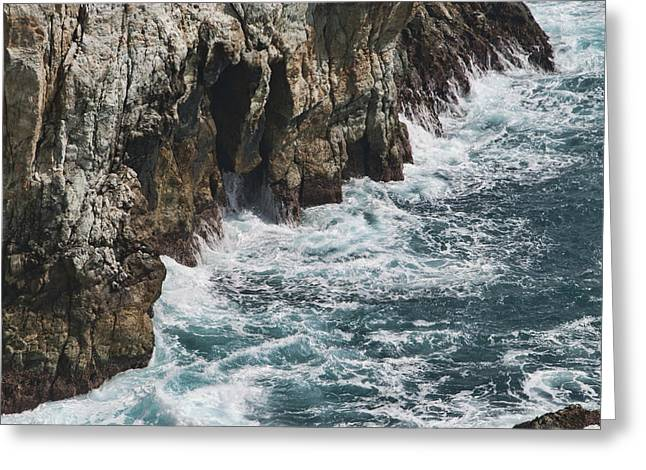 Big Sur Ca Greeting Cards - Pacific Coast Highway Seascape Greeting Card by Gregory Scott