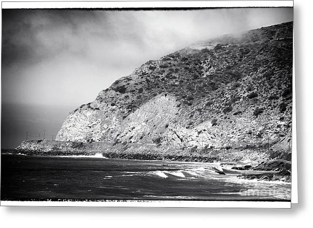 Pacific Coast Highway View Greeting Card by John Rizzuto