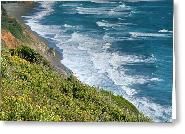 Pacific Coast Shoreline I Greeting Card by Steven Ainsworth