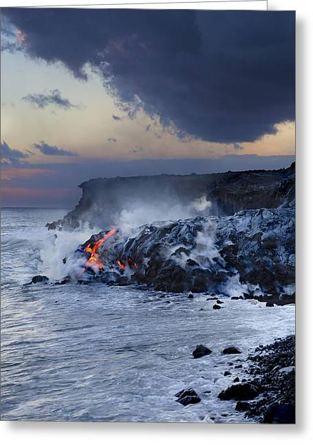 Dave Fleetham Greeting Cards - Pacific Lava Flow Greeting Card by Dave Fleetham - Printscapes