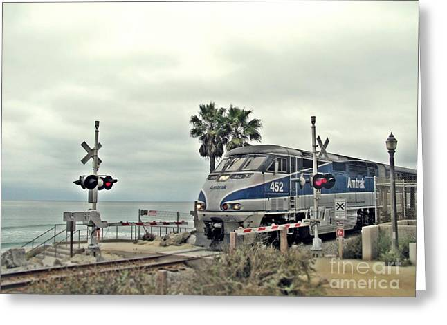 Pacific Surfliner Amtrak Train Greeting Card by Traci Lehman