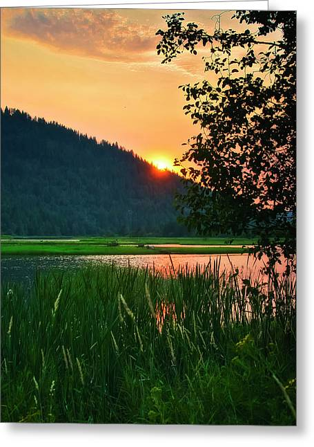 Lake Pend Oreille Greeting Cards - Pack River Delta Sunset 2 Greeting Card by Albert Seger
