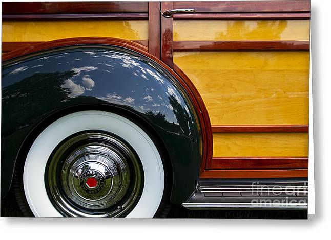 Station Wagon Greeting Cards - Packard Woodie Greeting Card by Dennis Hedberg