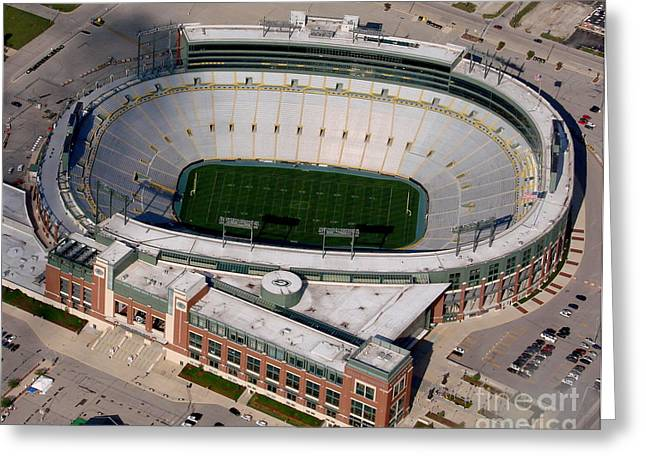 Bill Lang Greeting Cards - Packers Lambeau Field Greeting Card by Bill Lang