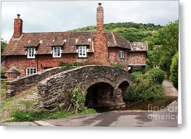 Packhorse Greeting Cards - Packhorse Bridge at Allerford Greeting Card by Rob Hawkins