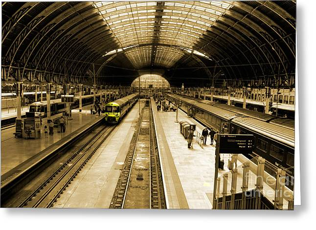 Express Greeting Cards - Paddington Station Greeting Card by Rob Hawkins