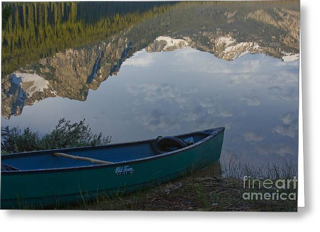 Canoe Greeting Cards - Paddle to the Mountains Greeting Card by Idaho Scenic Images Linda Lantzy