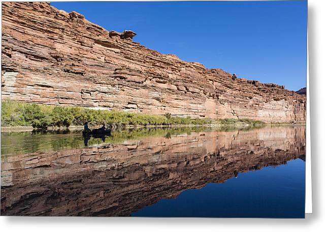 Kelly Photographs Greeting Cards - Paddling the Green River Greeting Card by Tim Grams