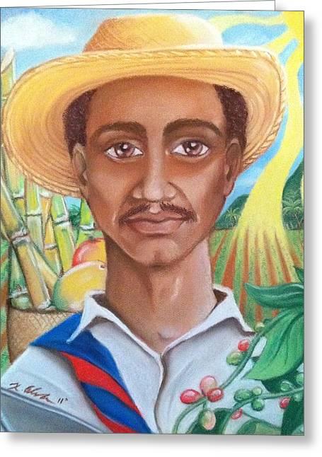 Padre Tierra Greeting Card by Xiomara Aleksic