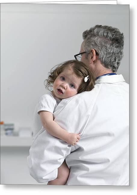 12-17 Months Greeting Cards - Paediatric Examination Greeting Card by Tek Image