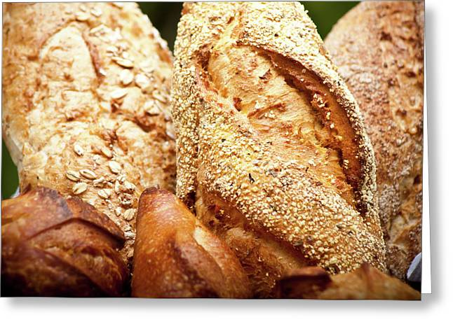 Loaf Of Bread Photographs Greeting Cards - Paes Greeting Card by Lucas Souza
