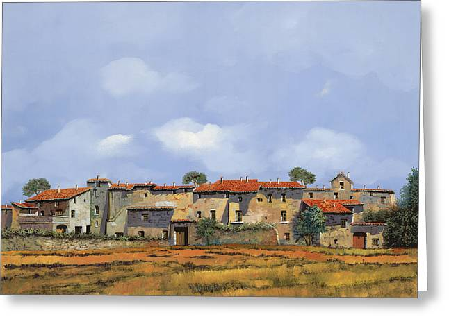 Bricks Greeting Cards - Paesaggio Aperto Greeting Card by Guido Borelli