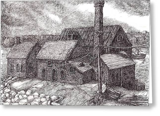 Massachussetts Greeting Cards - Paint Factory Rocky Neck Greeting Card by Steve Breslow