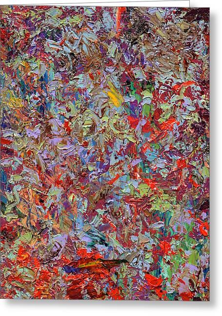 Contemporary Greeting Cards - Paint number 33 Greeting Card by James W Johnson