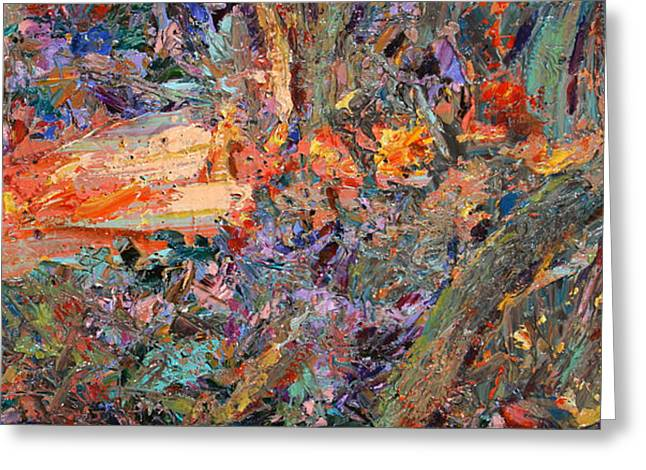 Abstracts Greeting Cards - Paint number 34 Greeting Card by James W Johnson