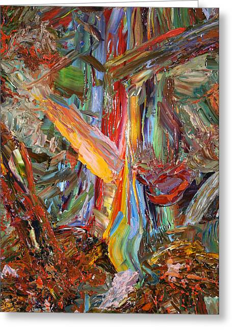 Abstracts Greeting Cards - Paint number 40 Greeting Card by James W Johnson