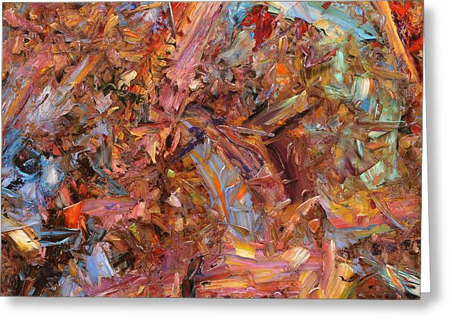 Paint number 43b Greeting Card by James W Johnson