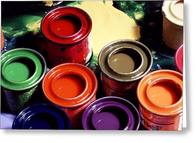 Common Item Greeting Cards - Paint Pots Greeting Card by Victor De Schwanberg