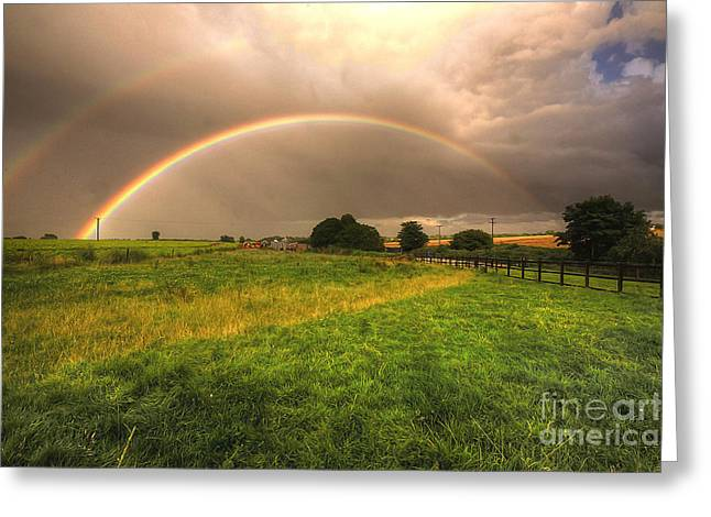 Double Rainbow Greeting Cards - Paint the Rainbow Greeting Card by Rob Hawkins