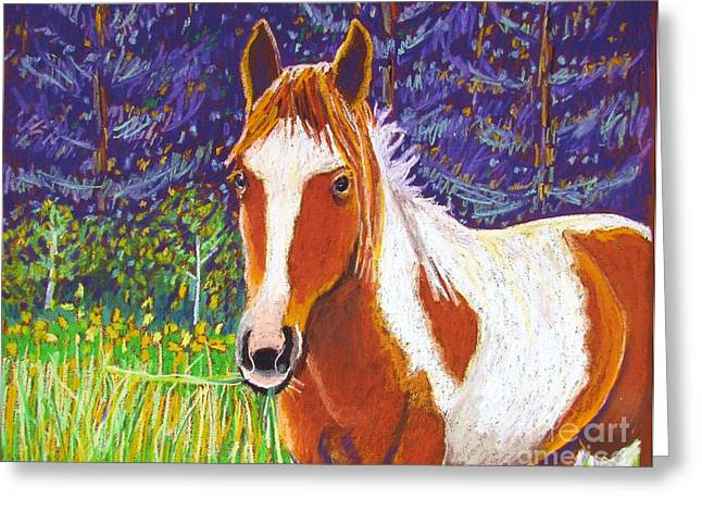 Horse Art Pastels Greeting Cards - Paintchip Greeting Card by Harriet Peck Taylor