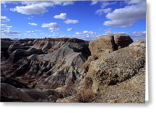Color_image Greeting Cards - Painted Desert Blue Sky Greeting Card by John Brink