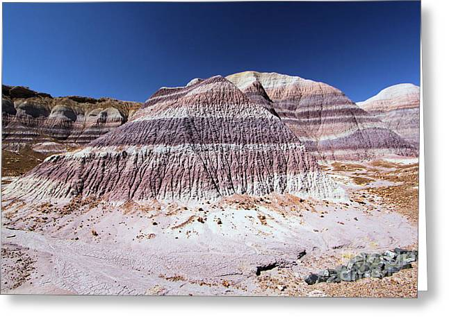Petrified Forest National Park Greeting Cards - Painted Erosion Greeting Card by Adam Jewell