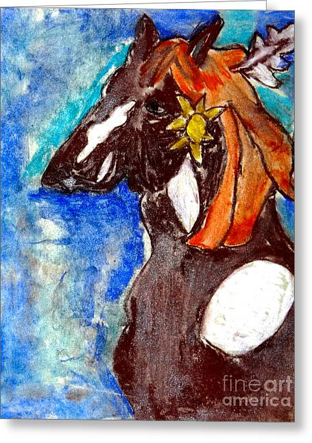 Flowing Pastels Greeting Cards - Painted Horse Greeting Card by Stephanie Ward