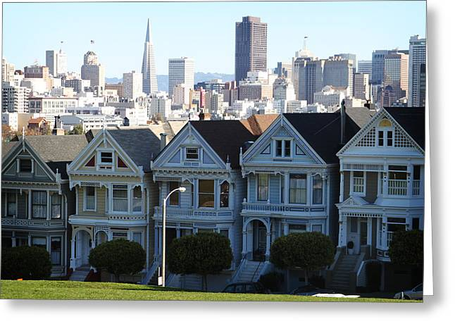 California Art Greeting Cards - Painted Ladies Greeting Card by Linda Woods