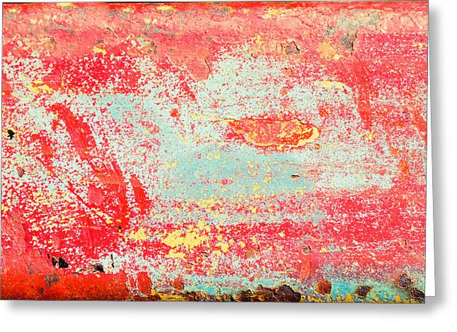 Corrosion Greeting Cards - Painted metal Greeting Card by Tom Gowanlock