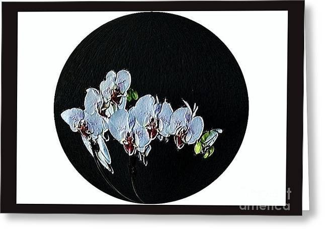 Treatment Digital Art Greeting Cards - Painted Orchids Greeting Card by Marsha Heiken