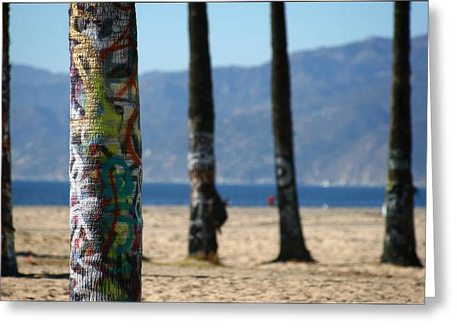 Venice Beach Palms Greeting Cards - Painted Palms Greeting Card by Shane Rees