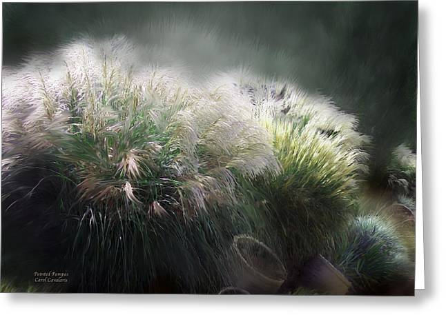 Pampas Grass Greeting Cards - Painted Pampas Greeting Card by Carol Cavalaris