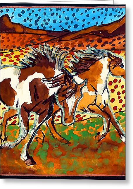 Jenn Cunningham Greeting Cards - Painted ponies 3 of 10 Greeting Card by Jenn Cunningham
