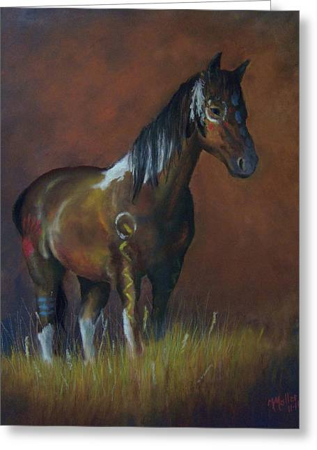 Paint Pastels Greeting Cards - Painted Pony Greeting Card by Marcus Moller