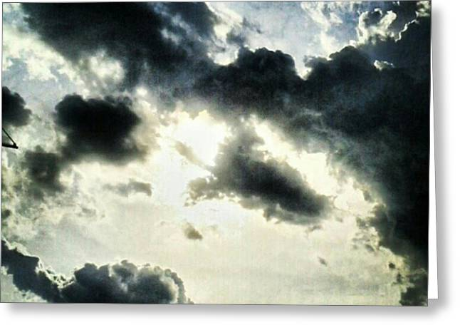 #painted #sky #instadroid #andrography Greeting Card by Kel Hill
