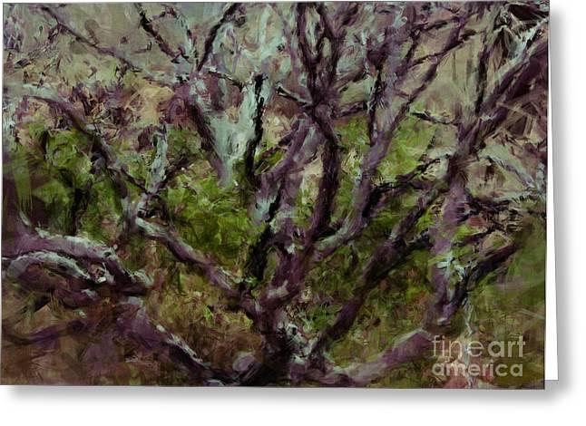 Julielueders Greeting Cards - Painted Tree Greeting Card by Julie Lueders
