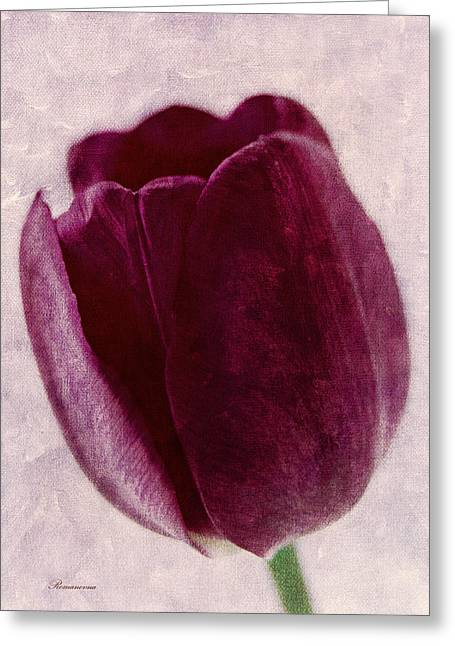 Mother Gift Mixed Media Greeting Cards - Painted Tulip Greeting Card by Georgiana Romanovna
