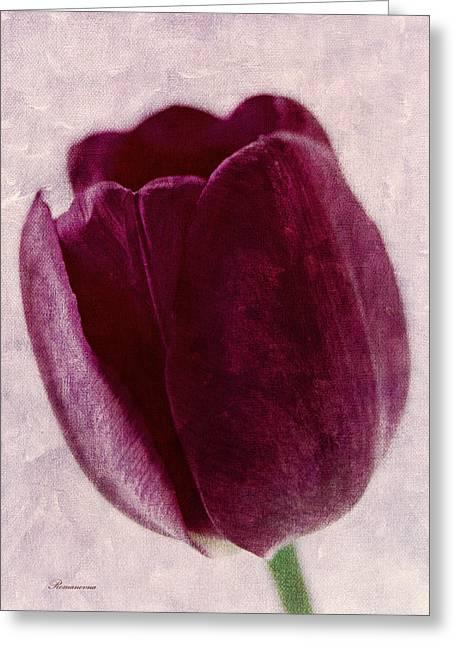 Vibrant Greeting Cards - Painted Tulip Greeting Card by Georgiana Romanovna