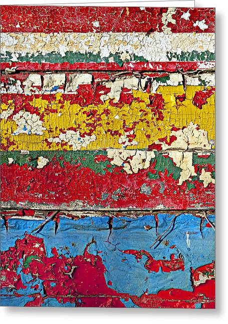 Paint Photographs Greeting Cards - Painting peeling wall Greeting Card by Garry Gay